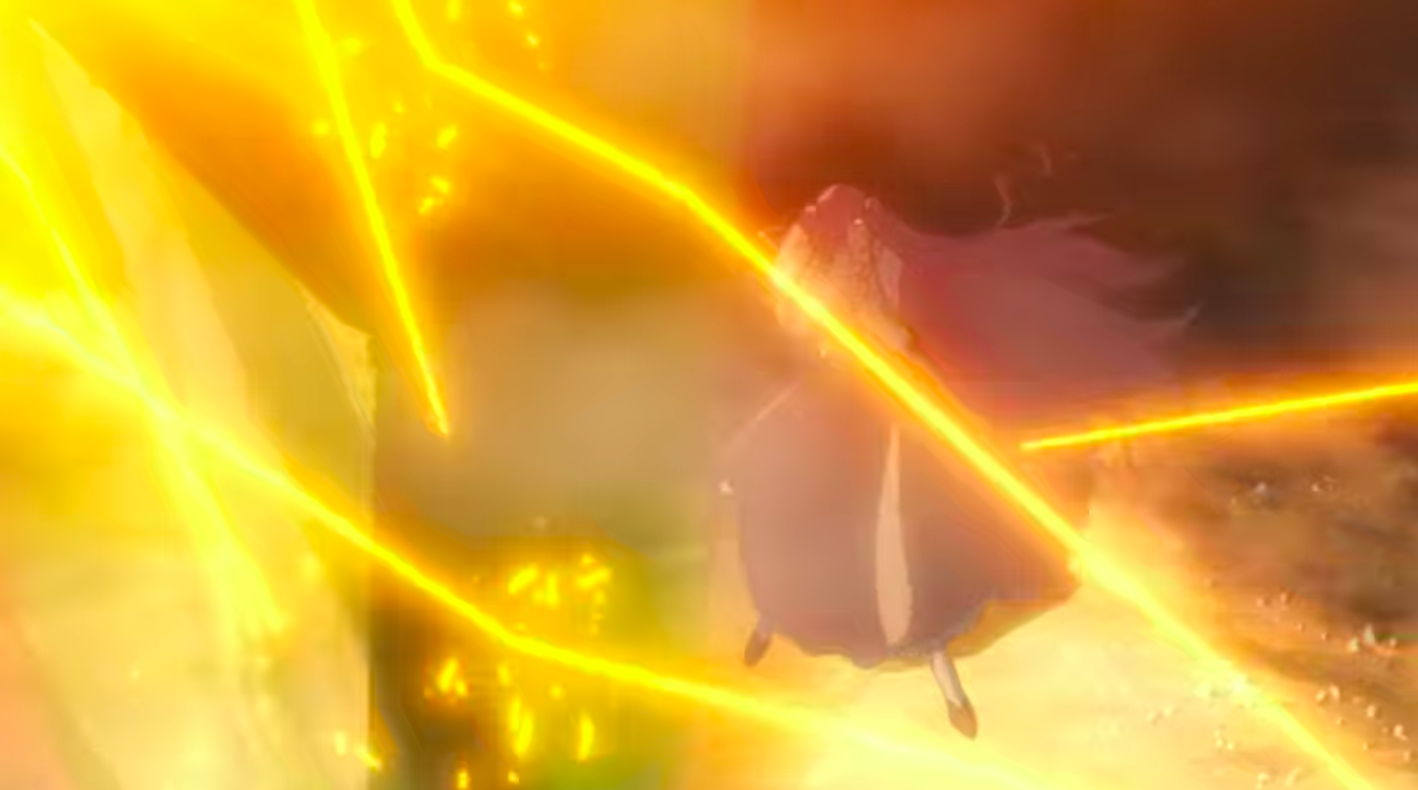 Euphemia jumps right under the granade, almost dying for the second time that day. Suzaku saves her